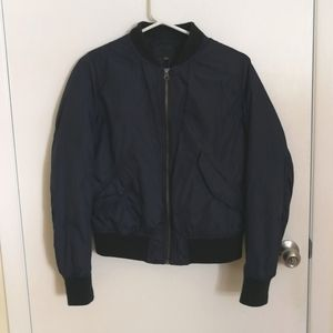 navy blue bomber jacket Uniqlo